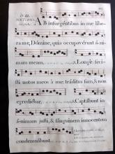 Antiphonal, Sheet Music 1799 Folio Manuscript & Engraved Leaf 103/04
