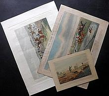 Alken, Henry 1835-20th Century. Group of 3 Hand Coloured Hunting Prints