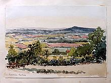 Hascombe, Surrey. Victorian Watercolour by an Anonymous Artist, 1868.