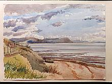 Burley, David William (1901-1990) 1949 Watercolour. Lyme Regis, Dorset