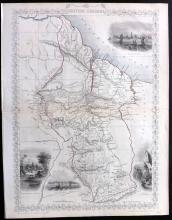 Tallis, John (Pub) 1852 Map of British Guyana