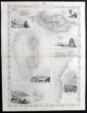 Tallis, John (Pub) 1852 Map of Madeira, Azores, Bermuda, Cape Verde
