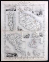 Tallis, John (Pub) 1852 Map of Malta, Gibraltar, Corfu, Zante, Greece