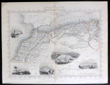 Tallis, John (Pub) 1852 Map of North Africa