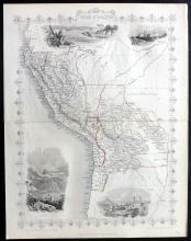 Tallis, John (Pub) 1852 Map of Peru & Bolivia
