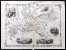 Tallis, John (Pub) 1852 Map of Prussia
