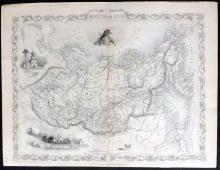 Tallis, John (Pub) 1852 Map of Russia in Asia