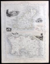 Tallis, John (Pub) 1852 Map of the Channel Islands. Jersey Guernsey
