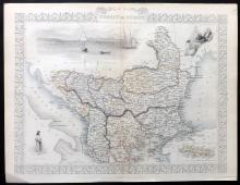 Tallis, John (Pub) 1852 Map of Turkey in Europe