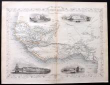 Tallis, John (Pub) 1852 Map of Western Africa