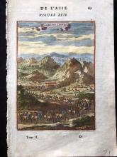 China - Mallet, Alain Manesson 1683 Hand Coloured View of Chinese Tombs