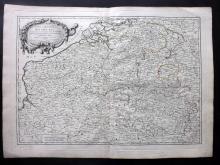 Janvier, Jean 1783 Map of Belgium & Luxembourg