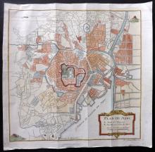 Japan - Tokyo - Bellin, Jacques C1750 Hand Coloured Map/Plan