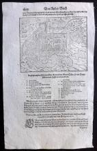 Munster, Sebastian C1580 Woodcut Map of Calais & Arras, France