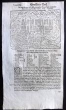 Munster, Sebastian C1580 Woodcut Map of Gyor, Hungary