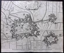 Rapin de Thoyras, Paul & Tindal, Nicholas 1743 Map of Aire, Artois, France