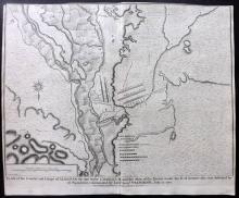 Rapin de Thoyras, Paul & Tindal, Nicholas 1743 Map of Almenar, Spain