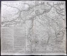 Rapin de Thoyras, Paul & Tindal, Nicholas 1743 Map of Arras, Douai, France