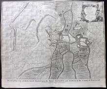 Rapin de Thoyras, Paul & Tindal, Nicholas 1743 Map of Bouchain, France