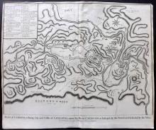 Rapin de Thoyras, Paul & Tindal, Nicholas 1743 Map of Cardona, Catalonia, Spain