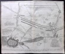 Rapin de Thoyras, Paul & Tindal, Nicholas 1743 Map of Douai, France