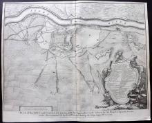 Rapin de Thoyras, Paul & Tindal, Nicholas 1743 Map of Lleida, Spain
