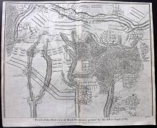 Rapin de Thoyras, Paul & Tindal, Nicholas 1743 Map of Malplaquet, France