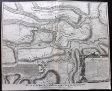 Rapin de Thoyras, Paul & Tindal, Nicholas 1743 Map of Oudenarde, Belgium