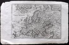 Speed, John & Keere, Pieter van den 1675 Map of Europa. Europe