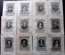 Portraits 1802 Lot of 43 Copper Plates. British