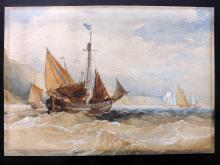 19th/20th Century Seascape Watercolour, Shipping/Sailing interest.