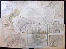 Maps 1683-C1870 Mixed Lot of 40