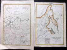 Bonne, Rigobert 1788 Pair of Hand Coloured Maps of the Russian Empire