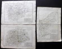 Bonne, Rigobert C1790 Group of 3 Maps of Germany