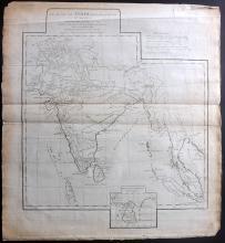 d'Anville, Jean Baptiste Bourguignon 1788 Map of India