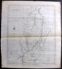 Harrison, John (Pub) 1787 Map of Nottinghamshire, UK