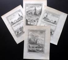 Prevost, Antoine Francois & Bellin, Jacques C1750 Group of 4 Prints. Siberian Russia
