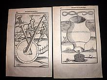 Vegetius, Flavius 1536 Pair of Medieval Military Woodcuts