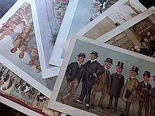 Vanity Fair Double Prints 19th/Early 20th Century. Lot of 8 Prints