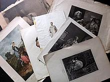 Mixed Prints 18th & 19th Century. Lot of approx 230 Engravings & Lithographs