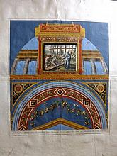 Raphael Loggia 1770's Large Hand Coloured Architectual Print. Plate 3