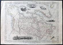Tallis, John (Pub) & Rapkin, John 1851 Map of British America (Canada)