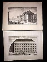 Dahlberg, Erik C1700 Pair of Swedish Architectural Prints