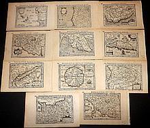 Bertius, Petrus C1600 Collection of 11 Maps