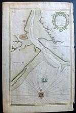 Collins, Greenville C1693 Hand Coloured Coastal Chart of East Sussex