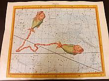 Flamsteed, John 1781 Large Hand Coloured Celestial Map. Pisces 10