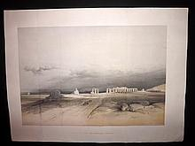Roberts, David 1847 Large Folio Lithograph. Ruins of the Memnonium, Thebes, Egypt