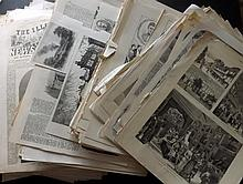 UK 19th Century. Lot of Approx 500 Prints from the Illustrated London News, The Graphic and similar Periodicals