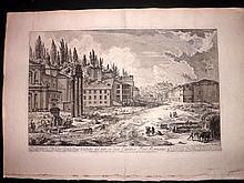 Piranesi, Giovanni Battista C1765 Large Architectural Print. Forum Romanum 41