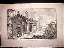 Piranesi, Giovanni Battista C1770 Large Architectural Print. Temple Fortuna Virilis 46